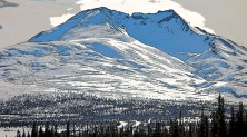 Gunsight Mountain in Winter