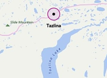 map of Tazlina Lake