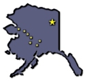 Outline of the state of Alaska