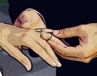 hands, wedding rings